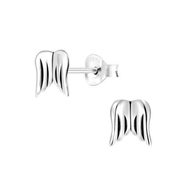 angel wings post earrings