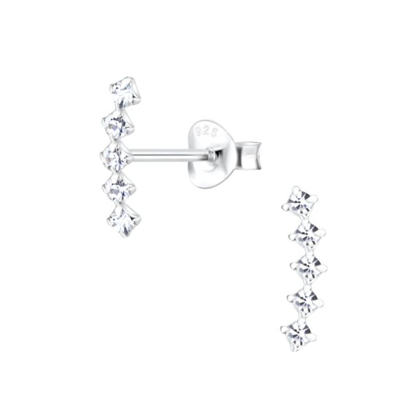 crystal ear climber post earrings