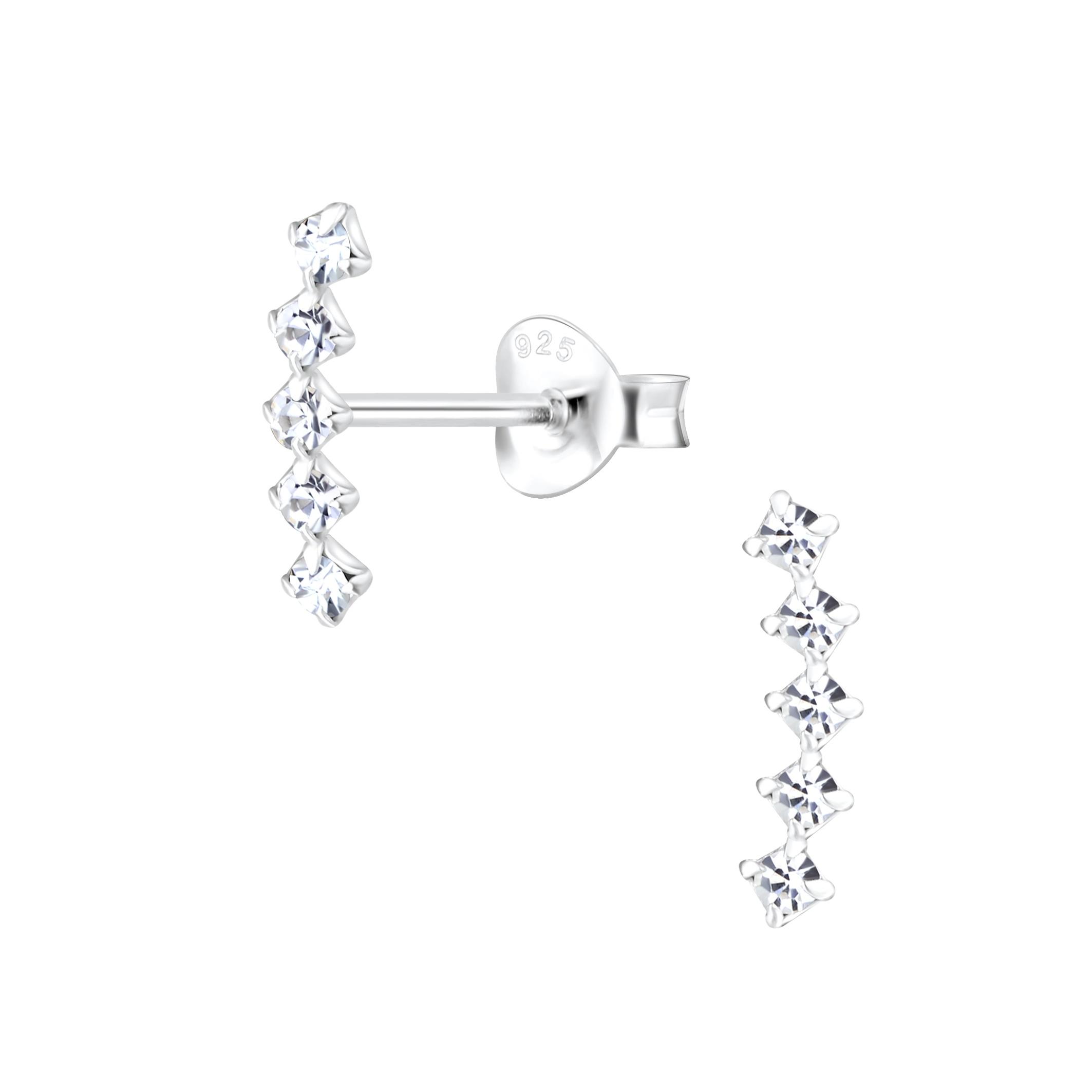 crystal ear climber post earrings