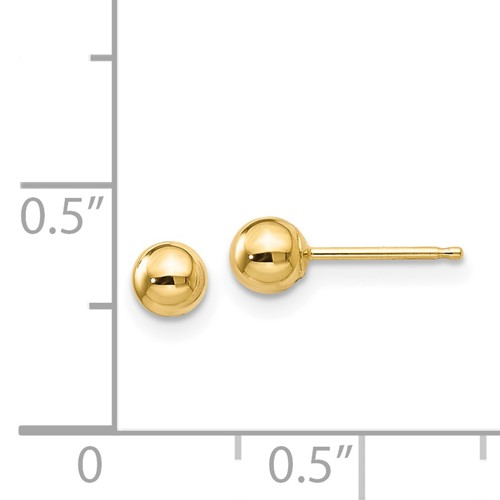 4MM ball post stud earrings with ruler