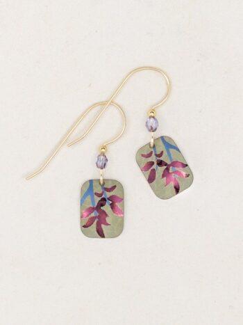 petite leaf earrings by Holly Yashi