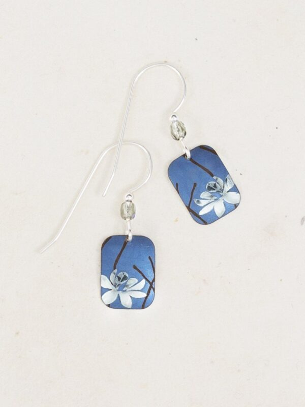 blue blooming lotus earrings from Holly Yashi Jewelry