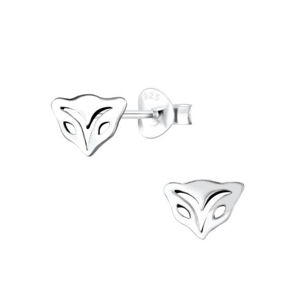 fox head sterling silver post earrings