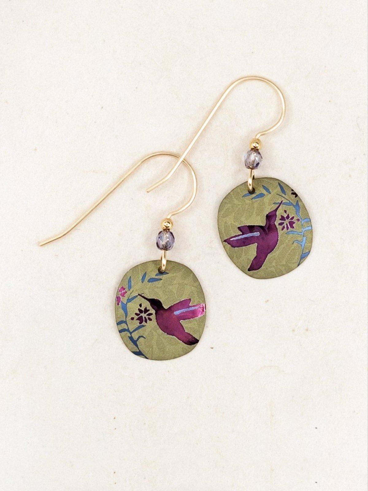 hummingbird earrings by jewelry designer Holly Yashi
