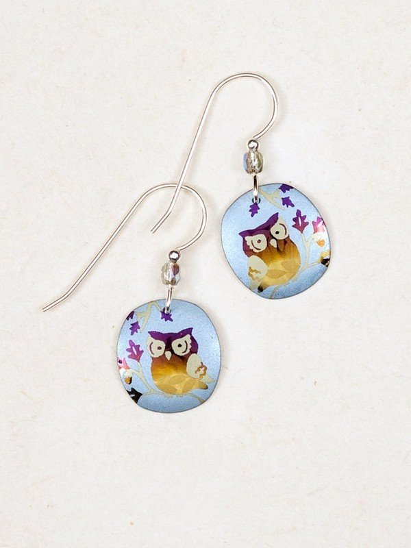 wise owl earrings by Holly Yashi