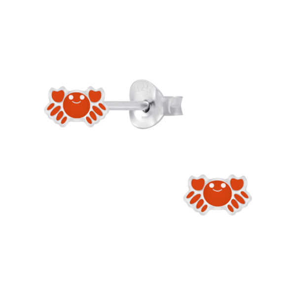 orange crab post earrings