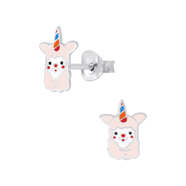 unicorn alpaca post earrings