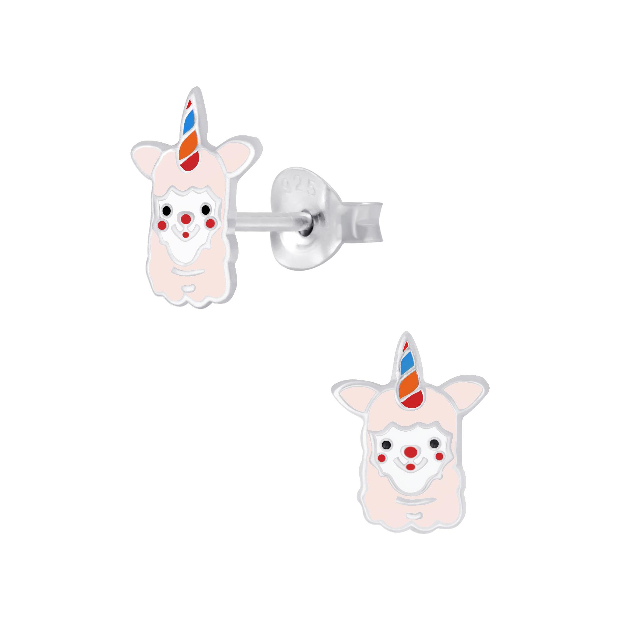 unicorn alpaca post earrings