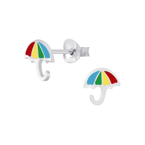 colorful umbrella post earrings