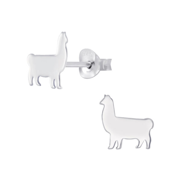 Llama Sterling Silver Stud Earrings