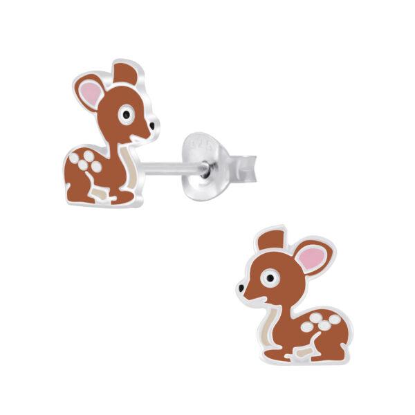colorful deer stud earrings