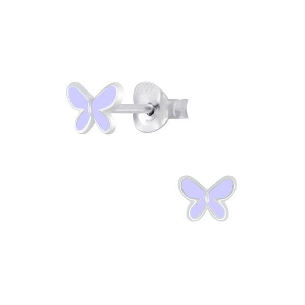 purple butterfly post earrings