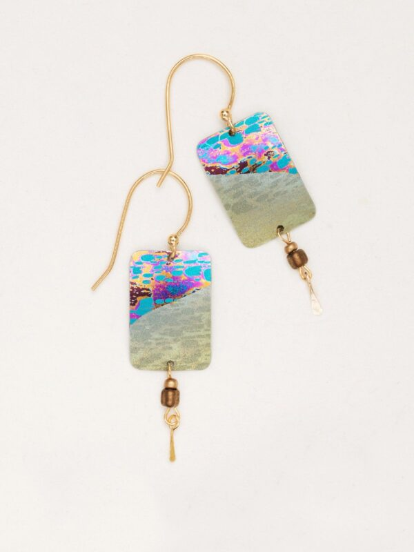 sage tideline earrings by jewelry designer Holly Yashi