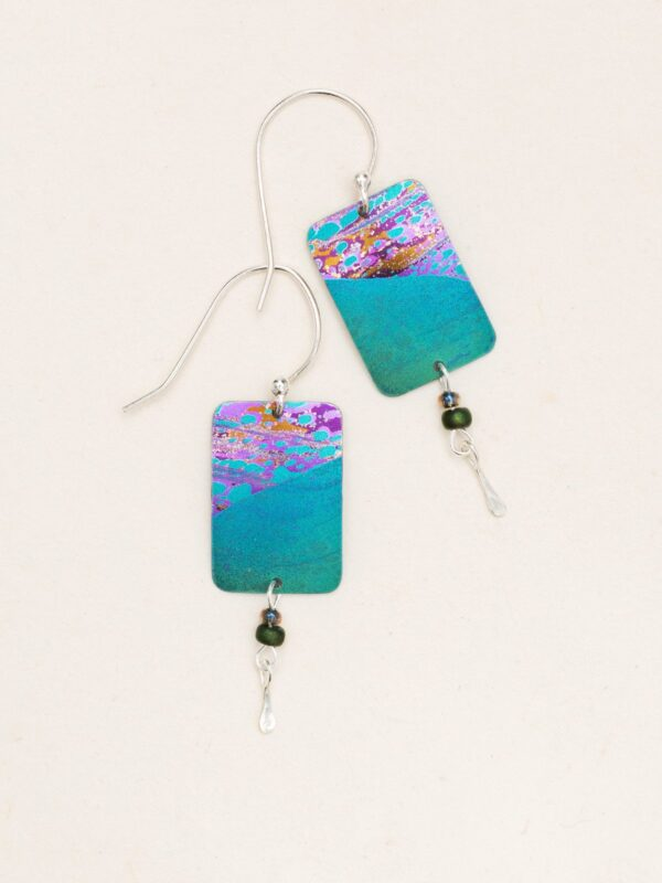 teal tideline earrings by Holly Yashi