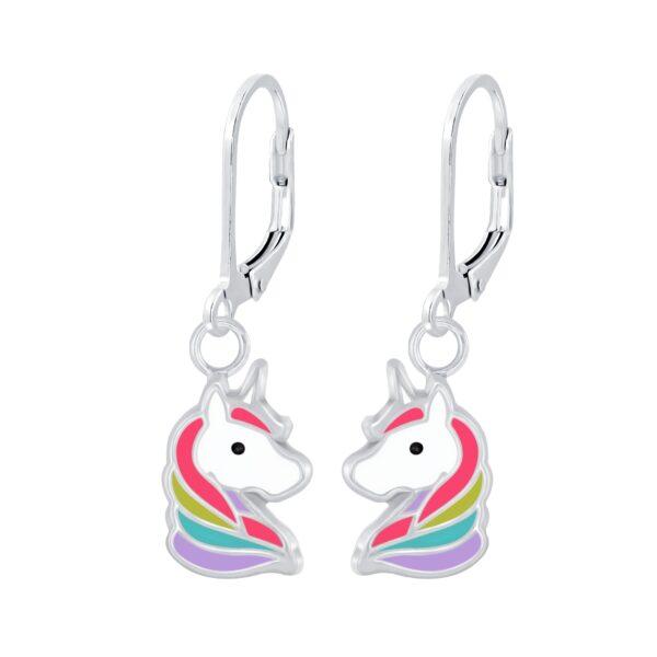 petite colorful unicorn earrings