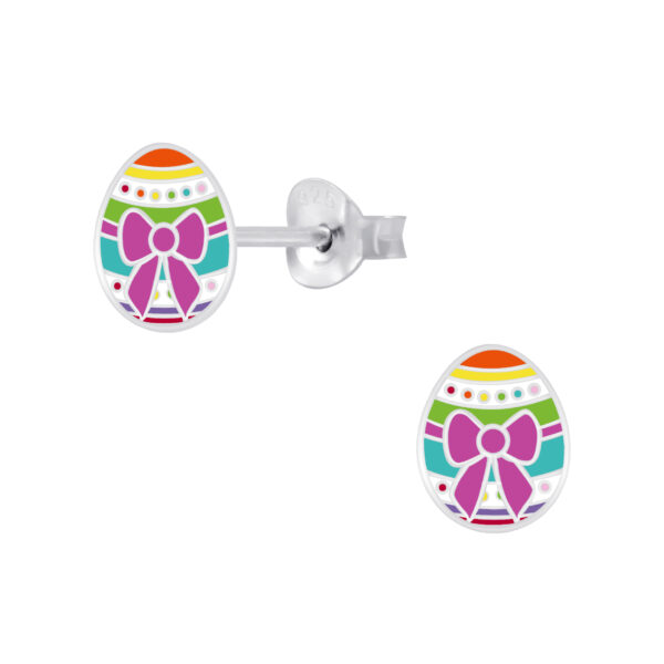 Easter egg post earrings