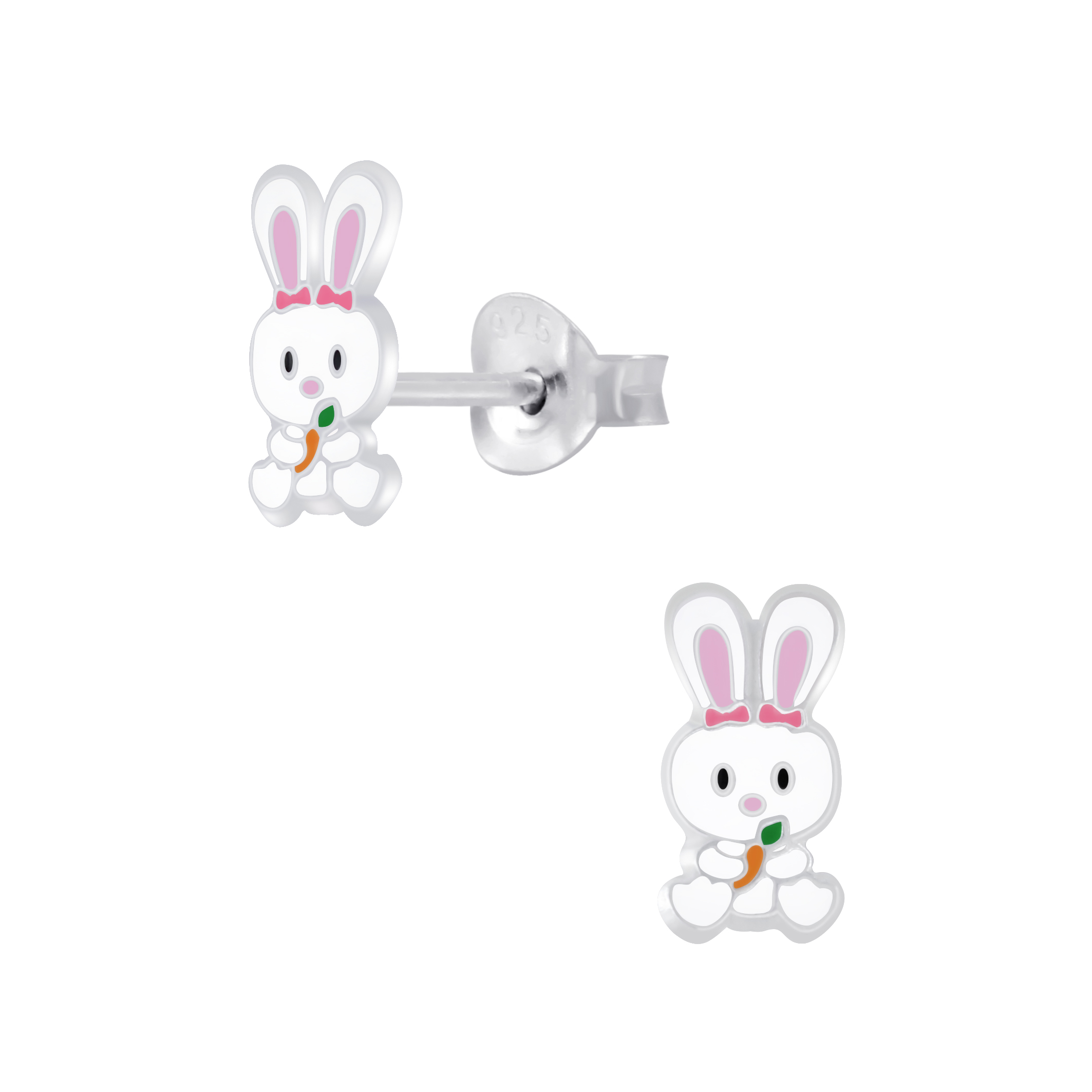 bunny with carrot post earrings