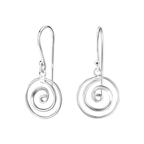 swirl sterling silver earrings