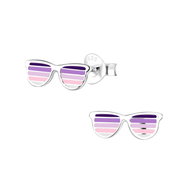 purple sunglasses post earrings