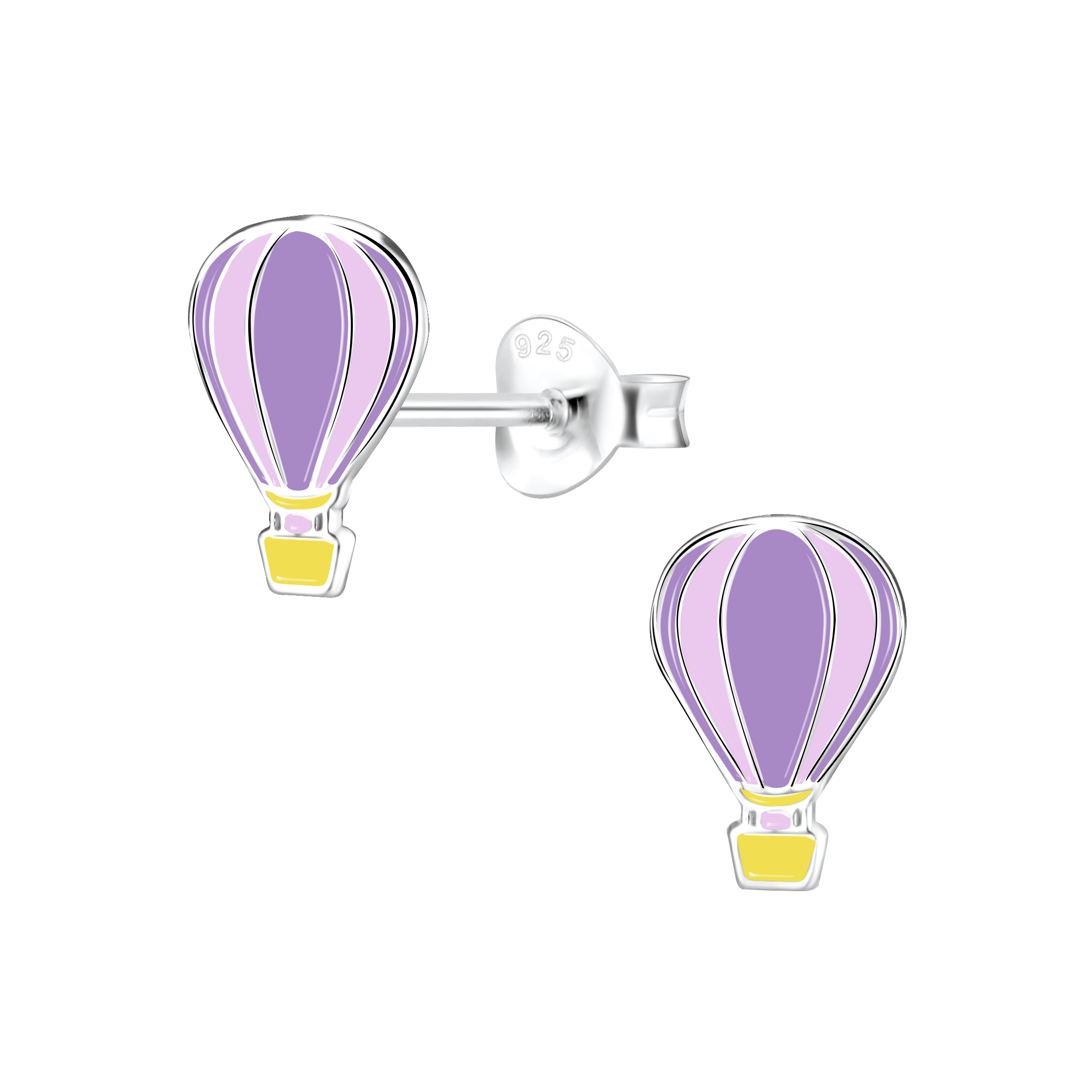 hot air balloon post earrings