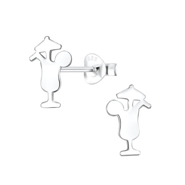 cocktail sterling silver post earrings
