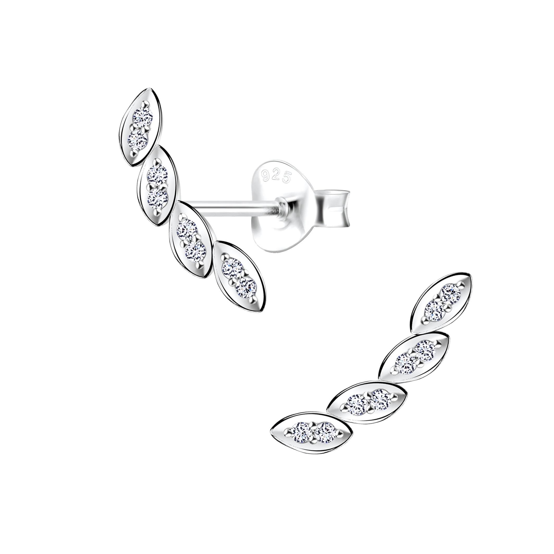 leaf ear climber earrings