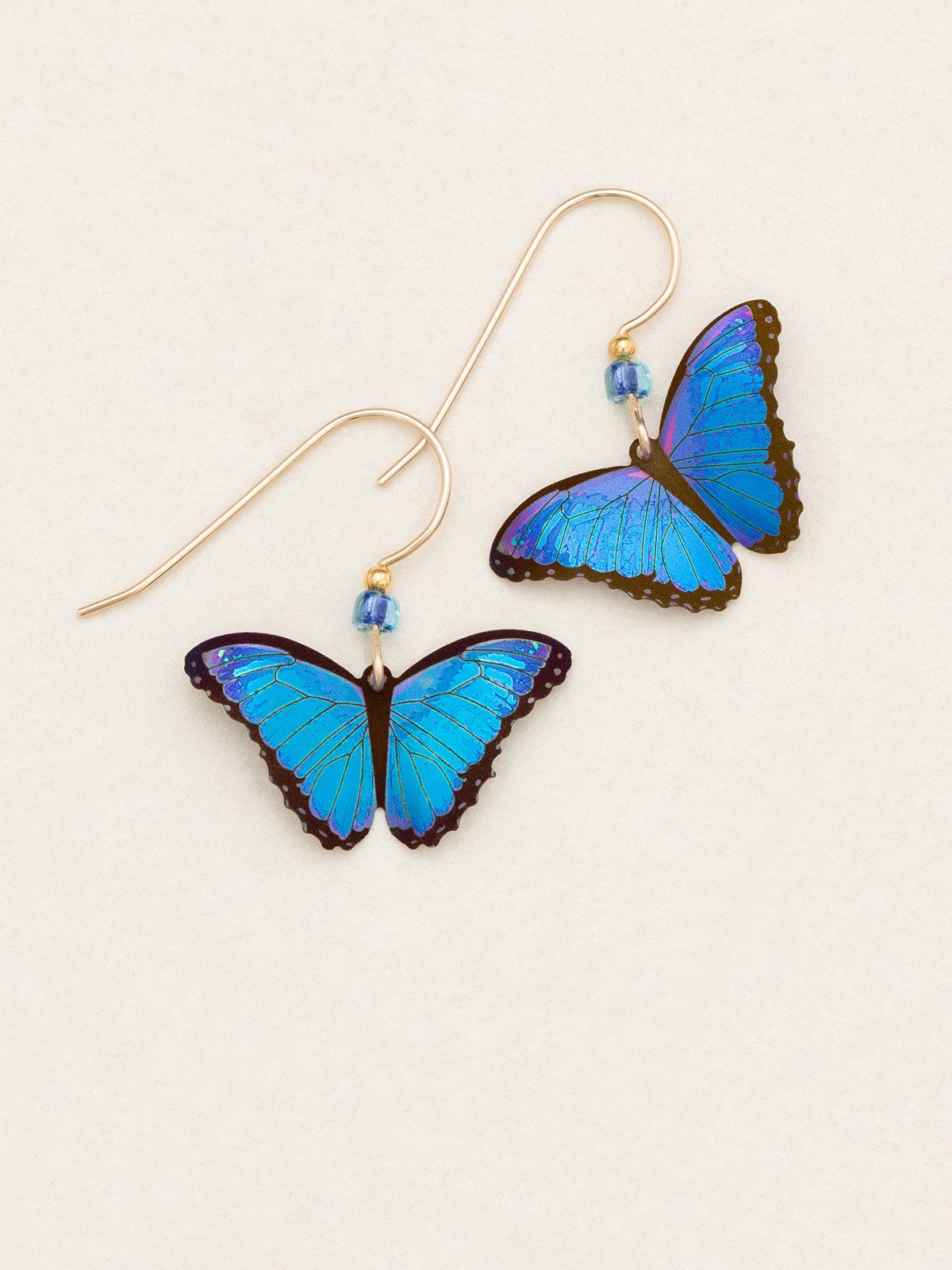 blue butterfly earrings by Holly Yashi Jewelry
