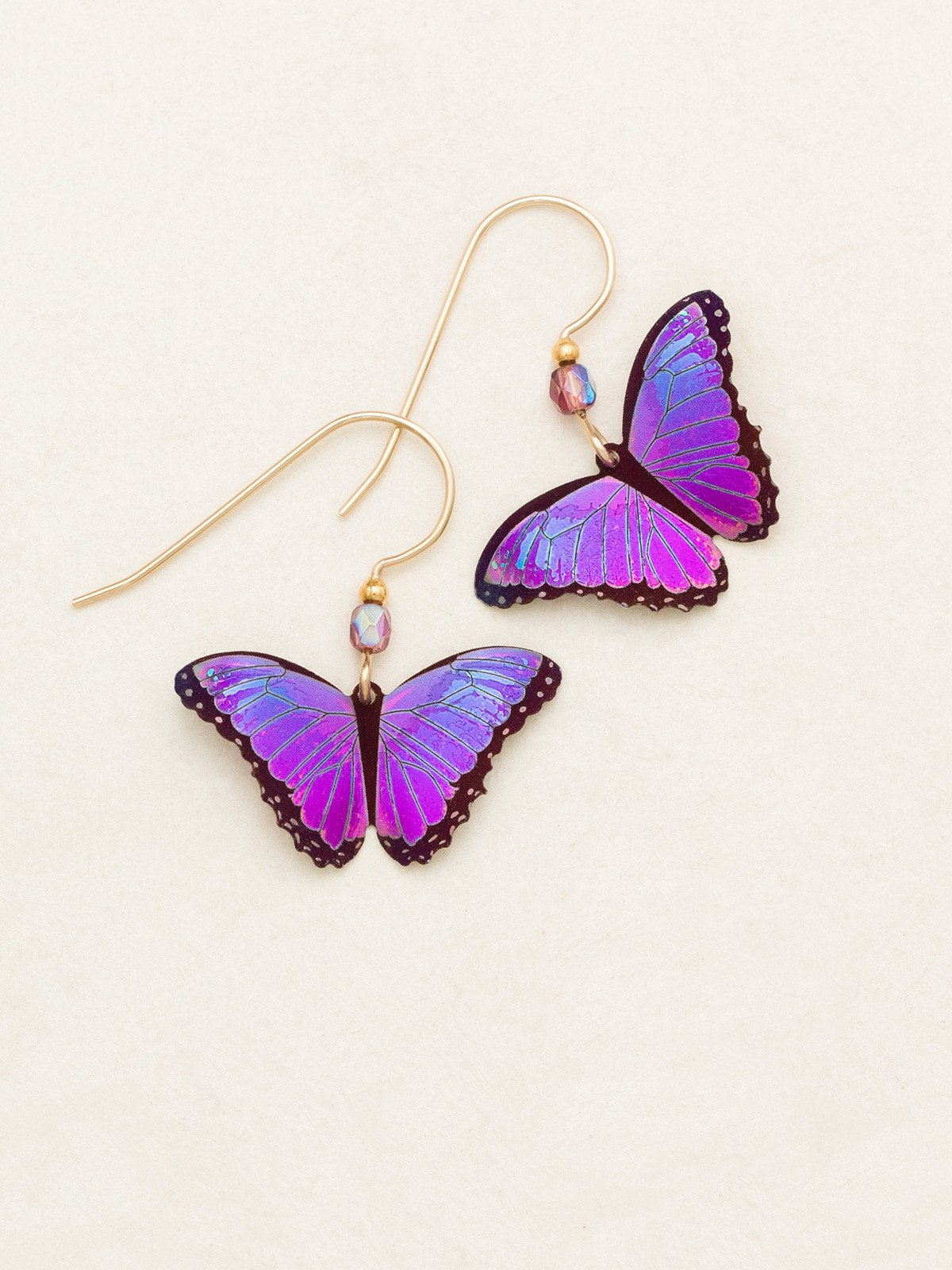 magenta butterfly earrings by Holly Yashi Jewelry