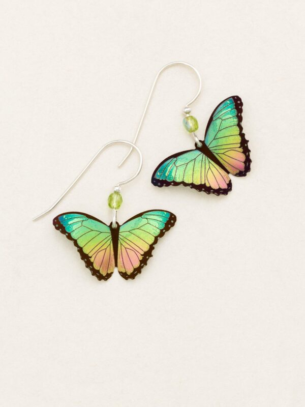 Bella Butterfly Earrings in Island Green from jewelry designer Holly Yashi