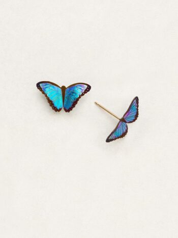 blue butterfly post earrings from Holly Yashi