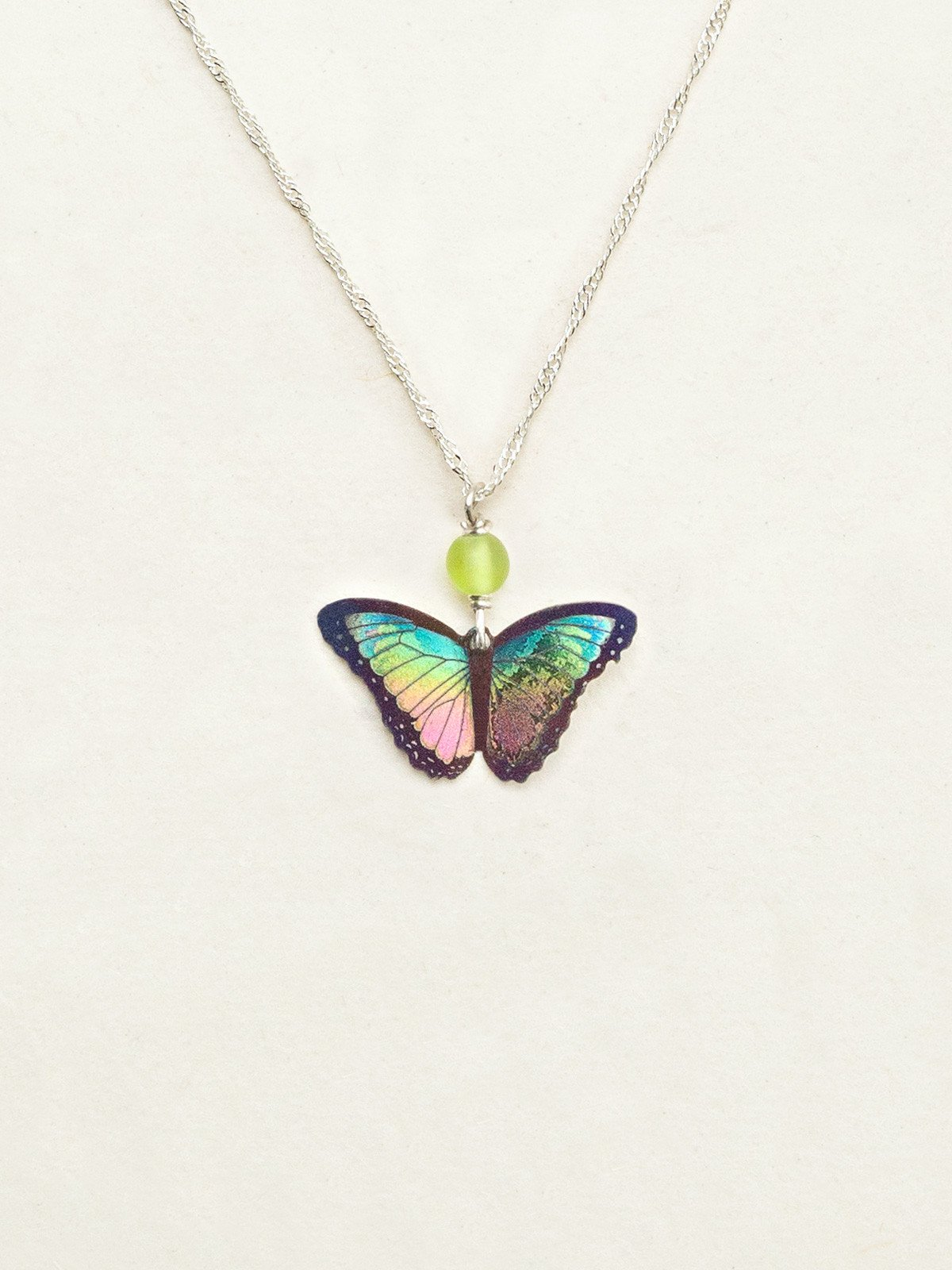 Bella Butterfly Necklace in Island Green by jewelry designer Holly Yashi