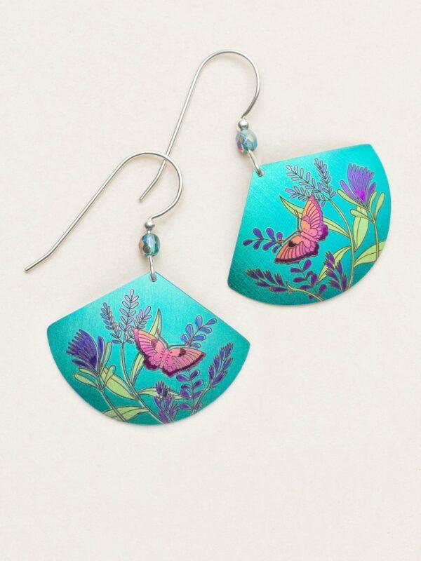 Garden Whimsy fan shape earrings by jewelry designer Holly Yashi