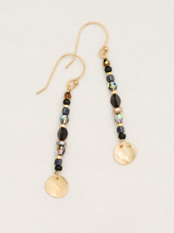Equinox beaded stick earrings in Black Galaxy by Holly Yashi
