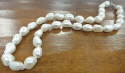 9 mm white baroque genuine freshwater pearl necklace