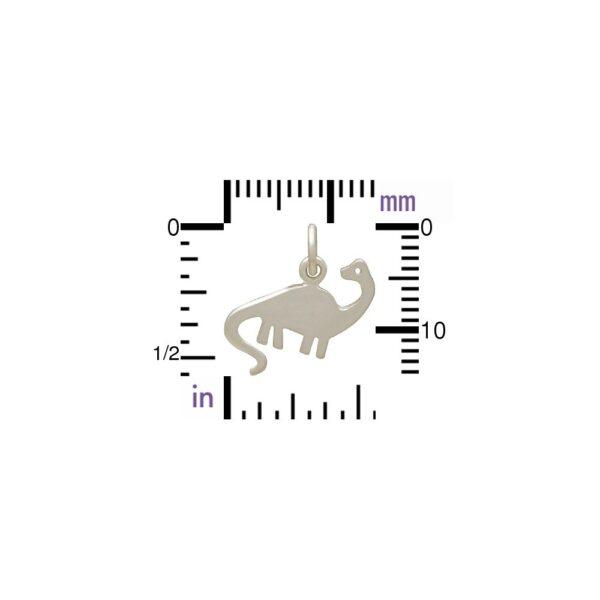 brontosaurus charm with ruler