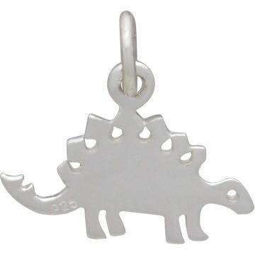 stegosaurus sterling silver dinosaur charm
