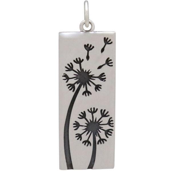 dandelion rectangle pendant