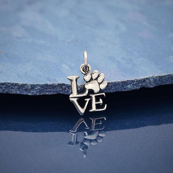 paw print love pendant