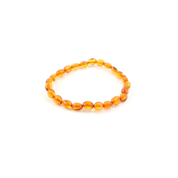 Cognac amber nugget stretch bracelet