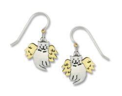 angel cat earrings
