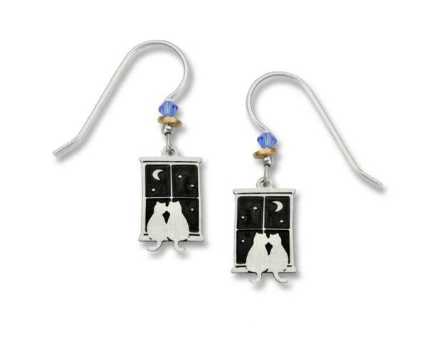 cat couple earrings