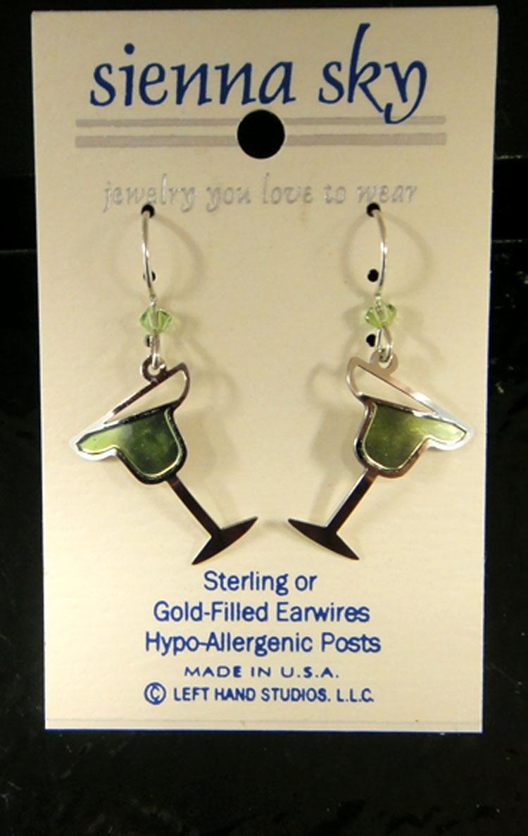 lime margarita earrings by Sienna Sky