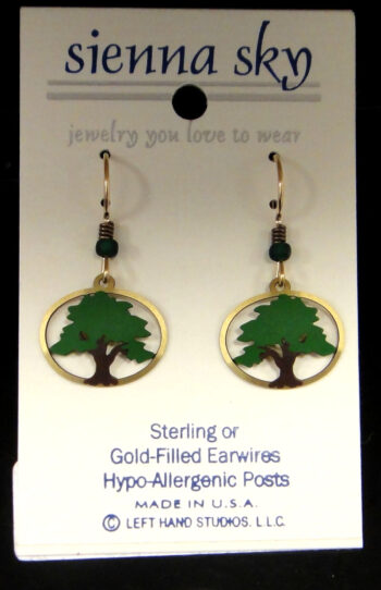 tree earrings by Sienna Sky