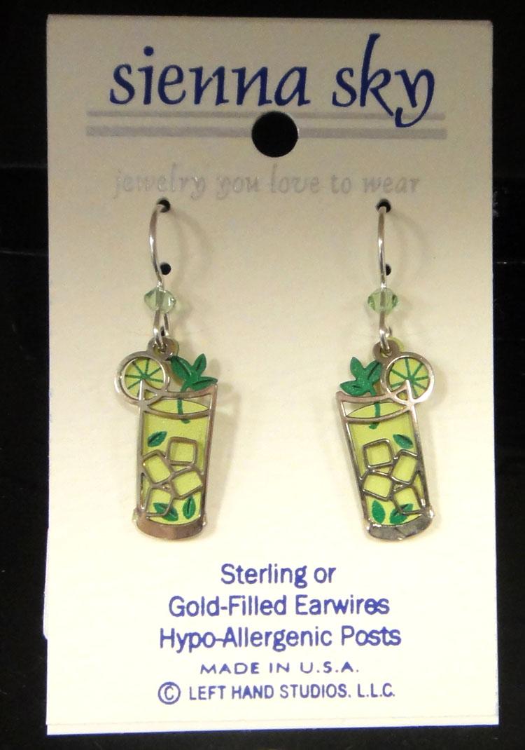 green mojito earrings by Sienna Sky