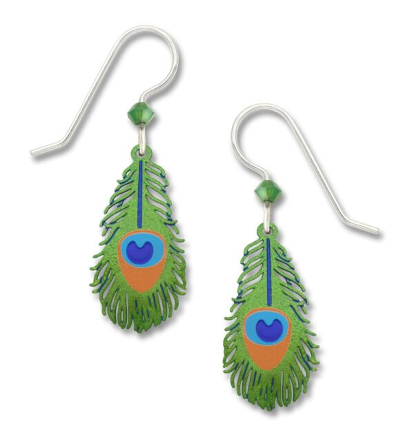 peacock feather earrings from Sienna Sky