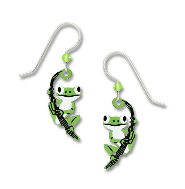 Tree Frog earrings by Sienna Sky