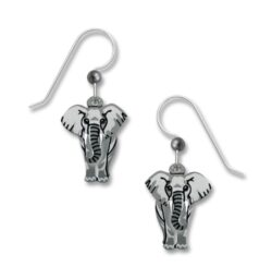 gray elephant earrings by Sienna Sky