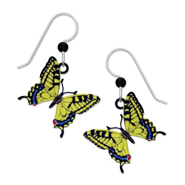 yellow swallowtail butterfly earrings from Sienna Sky