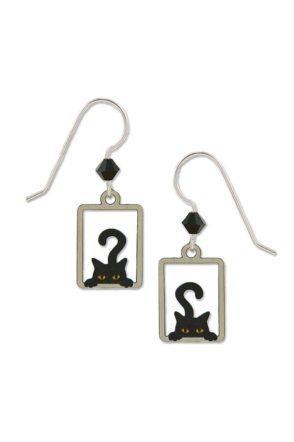 Peeking Cat earrings