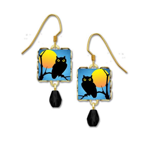Spooky owl earrings